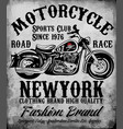 motorcycle tee graphic vector image