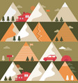 mountains in summer seamless pattern vector image