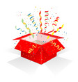 red box with serpentine vector image