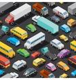 Seamless Car Parking Pattern vector image