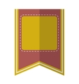 Yellow vintage badge vector image