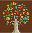 Coffee beans tree vector image