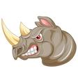Angry rhino cartoon character vector image vector image