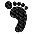 foot print black vector image