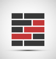icons brickwork vector image