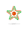 star with Niger flag colors symbol and grunge vector image