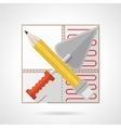 Colorful icon for underfloor heating vector image