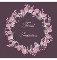 Design floral wreath vector image