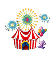 A monster near the circus tent vector image