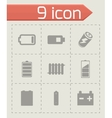 batery icons set vector image
