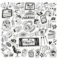 cinema - set icons vector image