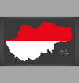 Jambi indonesia map with indonesian national flag vector image