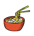 Japanese noodles vector image