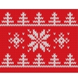 Knitted holiday pattern vector image
