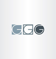 letter g icons set elements design vector image