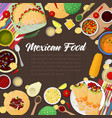 Mexican cuisine traditional food with tacos vector image
