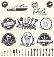 Retro Style Master Chef Labels vector image