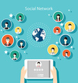 Social Network Concept Flat Design for Web vector image