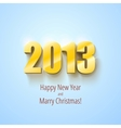 New year 2013 background gold numbers vector image
