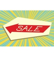 Sign pointer sale vector image