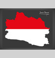 Jawa barat indonesia map with indonesian national vector image