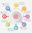 infographic template with science icons vector image