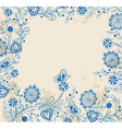 blue hand drawn flowers vector image vector image