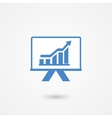 Presentation icon with a bar graph vector image