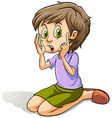 A cute young girl vector image