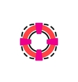 Color line icon for flat design Lifebuoy vector image vector image