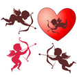 Cupid collection vector image