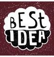Best Idea text vector image
