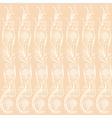 Background beige floral elements vector image