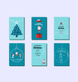 collection of merry christmas greeting cards vector image