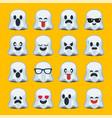 emoji halloween ghost vector image