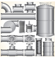 Industrial Pipeline Parts vector image