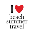 summer and beach icon vector image