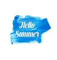 white hello summer lettering vector image