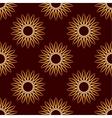 Seamless Gold Floral Mandala Pattern vector image