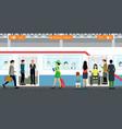 subway vector image vector image