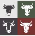 cow head farm vector image