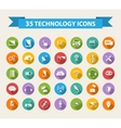 Flat Technology Icons with long shadowBig set vector image