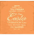 Easter distressed background on orange vector image vector image