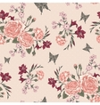 Beautiful Seamless Background with Victorian Roses vector image