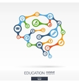 Brain concept for education learning knowledge vector image