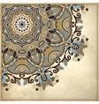 circle design on grunge background vector image