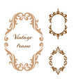 collection elegance vintage style frame vector image