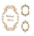 collection elegance vintage style frame vector image