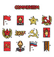 communism cartoon concept icons vector image