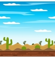 game background cactus desert heat journey cartoon vector image